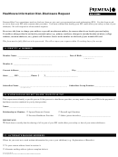 Healthcare Information Non-disclosure Request Form