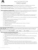 Community Service Guidelines And Application Form