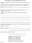 Form Cr2e067 - Amendment To Partnership Registration