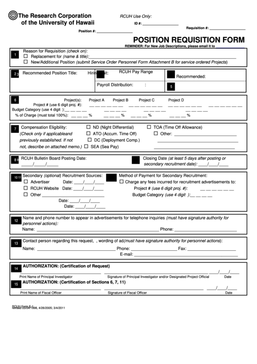 Top 10 Job Requisition Form Templates free to download in PDF format