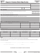 California Form 1117 - Request To Terminate Water's-edge Election - 2009