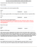 Form For Change Of Registered Office Or Registered Agent