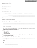 Form Bca 4.25 - Application Form For Registration, Renewal Or Cancellation Of Foreign Registration - Illinois