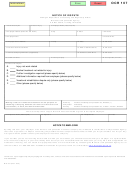 Form Ocr 107 - Michigan Workers' Compensation Notice Of Dispute Form
