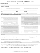 Application For Sanction Of A Usa Volleyball Team Try-out Template