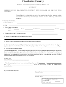 Release And/or Occupation Of County Easement - Affidavit Form