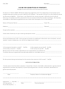 Claim Form For Exemption Of Property