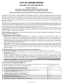 Form Gr-1040es - Instructions For Grand Rapids Declaration Of Estimated Income Tax - 2011