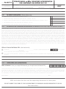 Form Pa-8879-c - Pennsylvania E-file Signature Authorization For Corporate Tax Report Rct-101 (2007)