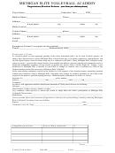 Registration/medical Release Form