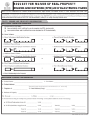 Request For Waiver Of Real Property Income And Expense (rpie) 2007 Electronic Filing Form