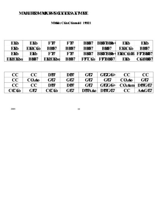 Ma Hes Making Eyes At Me Chord Chart printable pdf download