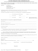Victim's Request For Confidentiality Form - Florida