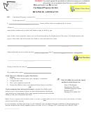 Form Rev 80 0034e (a) - Business Affidavit - Department Of Revenue Unclaimed Property Section