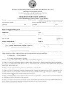 Form Dss-1473 - Request For State Appeal Form - North Carolina Department Of Health And Human Services