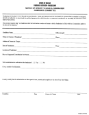 Form Cc-8 - Notice Of Intent To Hold A Fundraiser Candidate Committee Form - State Of Hawaii - Compagn Spending Commission