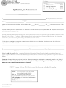 Application For Reinstatement Form - Department Of Commerce Division Of Corporations & Commercial Code - State Of Utah