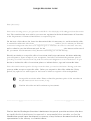 Sample Rescission Letter Template