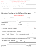 College Medical Withdrawal Certificate Form