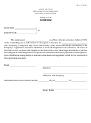 Form 10-2-1b - Certification Form - Department Of Commerce Division Of Securities - State Of Utah
