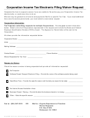 Corporation Income Tax Electronic Filing Waiver Request Form - Virginia Department Of Taxation - 2015
