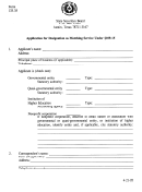 Form 133.35 - Application For Designation As Matching Service - 1995