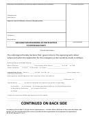 Declaration Form Regarding Ex Parte Notice To Opposing Party - Superior Court Of California, County Of San Bernardino