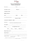 Form 116 - Request For Credit Card Change - Attention Credit Department