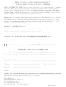Real Estate/tangible Personal Property - Request For Change Of Mailing Address Form - Florida
