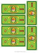 Classroom Currency One Dollar Bill Template