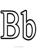 B Letter Template