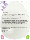 Secret Easter Bunny Letter Template