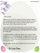 Easter Bunny Letter To Child Template
