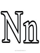 N Letter Template