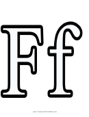 F Letter Template