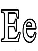 E Letter Template