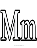 M Letter Template