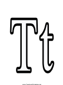 T Letter Template