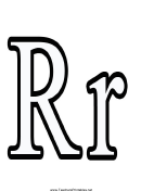 R Letter Template