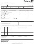 Anthem Claim Form - Flu Shot Only printable pdf download