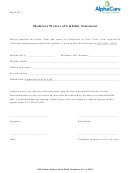 Medicare Waiver Of Liability Statement Template