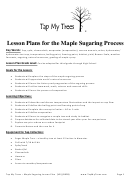 Lesson Plans For The Maple Sugaring Process