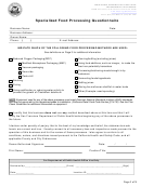 Specialized Food Processing Questionnaire