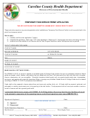 Temporary Food Service Permit Application