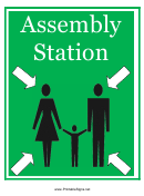 Assembly Station Sign Template