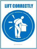 Lift Correctly Sign Template