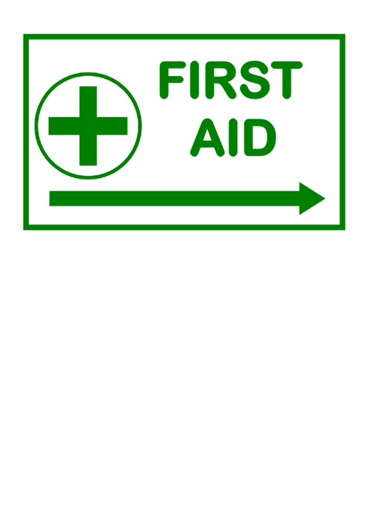 first aid sign template printable pdf download
