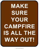 Campfire Sign Template