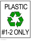 Recycle Sign Template