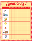 Weekly Chore Chart - Nine Chores